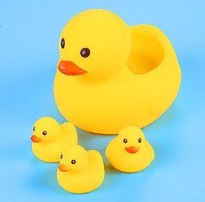 001-4_Showers yellow duck set_大小沖涼黃鴨仔套裝(1大3小)