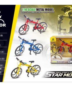 0818-3A_1-10 Die Cast Mountain Bike_1:10合金折疊自行車