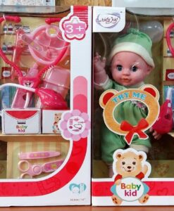 13025_My Little Babies 14-inch doll with sound, bottle, doctor Set_14寸發聲娃娃配奶瓶醫生套裝(2色)