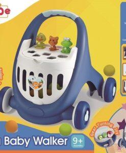 18003-多功能兒童學習步行車(藍色) _Multifunction Elantra Baby Walker with Balls-Blue