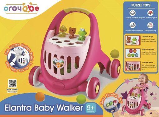 18004-多功能兒童學習步行車(藍色) _Multifunction Elantra Baby Walker with Balls-Pink