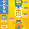 18021_ROYABE CARTOON MOBILE PHONE L+S (12M+)_ROYABE聲光幼兒學習小電話(12M+) 紅/藍兩色