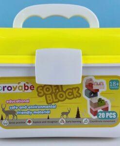 18026-軟膠積木桶_Soft Block 20 pcs