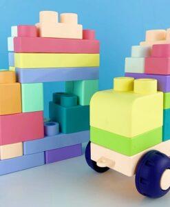 18028-軟膠積木桶_Soft Block 60 pcs 1