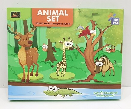 196-1A-學習動物磁力拼圖_Animal Magnetic Puzzle Set