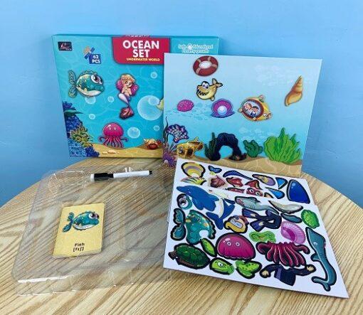 196-2A-學習海洋磁力拼圖- Ocean Magnetic Puzzle Set