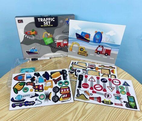 196-3A-學習交通磁力拼圖_Traffic Magnetic Puzzle Set