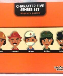 196-4A-學習人像磁力拼圖_Character Five Senses Magnetic Puzzle Set