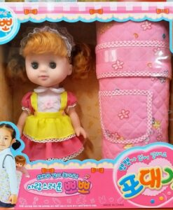 240921_Haoyile Korean doll strap set (28cm) milk, move eyes_韓國公仔背帶套裝(28cm) 食奶,眨眼睛