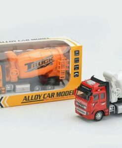 292H-2_Die cast pull back action concrete delivery truck (2 kinds)_合金回力消防車