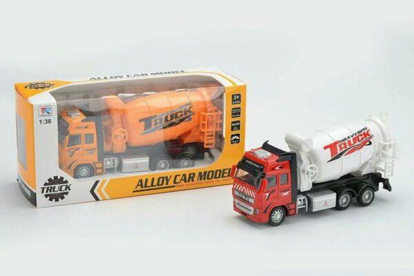 292H-2_Die cast pull back action concrete delivery truck (2 kinds)_合金回力消防車