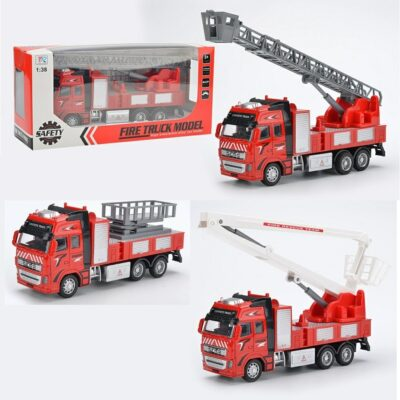 292H-A_Die cast pull back action Fire engine (3 kinds)_合金回力消防車