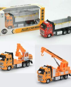 292H-B_Die cast pull back action Dump Truck (3 kinds)_合金回力工程泥頭車