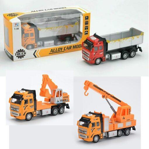 292H-B_Die cast pull back action Dump Truck (3 kinds)_合金回力工程泥頭車