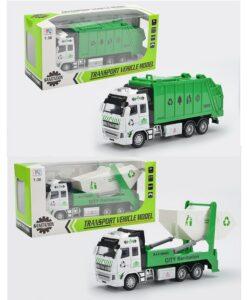 292H-C_Die cast pull back action garbage truck (3 kinds)_合金回力垃圾車
