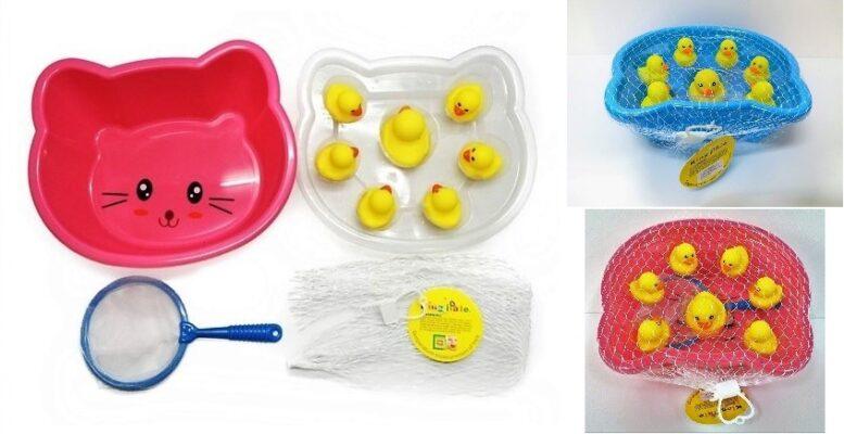 32861_Showers yellow duck set_大小沖涼黃鴨仔盤套裝(1大6小)(2色:粉紅/藍色)