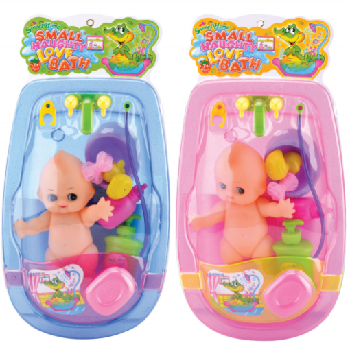 3A-737B_Biger Baby bath set suit with a doll (red, blue)_特大嬰兒浴盆套裝配娃娃(紅/藍)