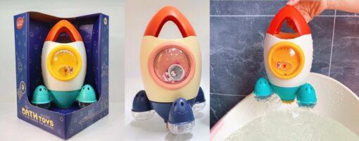601Y_ROCKET BATH TOYS (WHITE,PINK)_旋轉噴水火箭沖涼玩具(2色:白/粉)