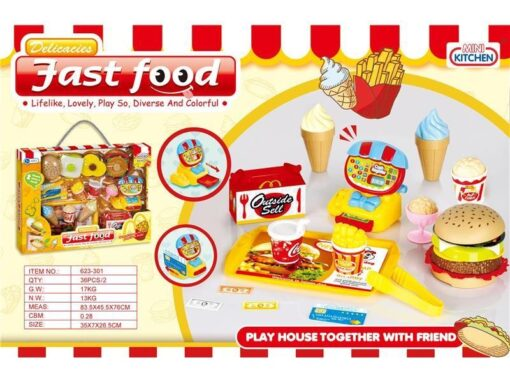 623-301_MINI KITCHEN FAST FOOD SET_迷你漢堡套裝