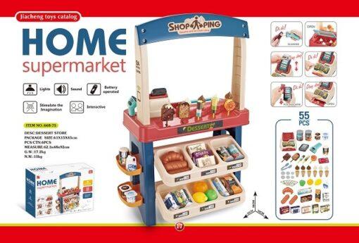 668-75_Dessert Store Super Play Set with Sound_燈光聲音雪糕糖果超市套裝