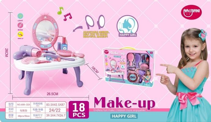 688-32A_HAPPY MAKE-UP SET WITH LIGHT AND SOUND_開心聲光梳妝台
