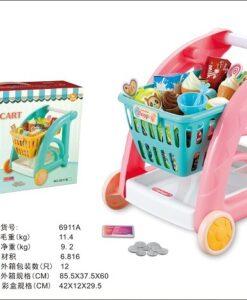 6911A_Girl Shopping Cart Set_女孩購物車套裝