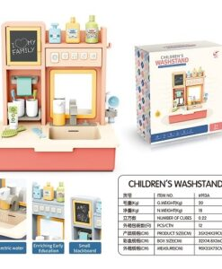 6913A_CHILDREN'S WASHSTAND WITH LIGHT AND SOUND_聲光兒童出水洗手台(紅色)