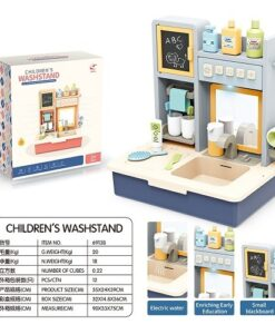 6913B_CHILDREN'S WASHSTAND WITH LIGHT AND SOUND_聲光兒童出水洗手台(藍色)