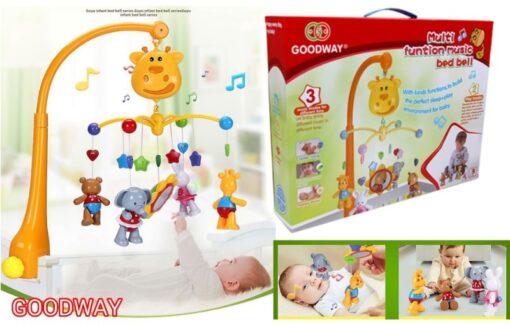 6919-嬰兒音樂掛床鈴(公仔可拆下,手腳關節可動)_Goodway Baby Music Mobile