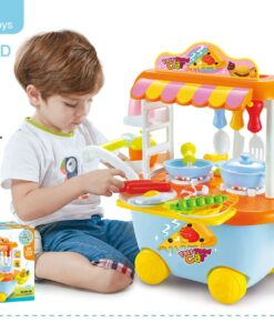 889-125_Light & sound fastfood car kitchen play set(Blue)_燈光音樂快餐車廚房套裝(藍色)