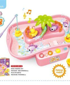 889-144_Light & sound Go Fishing play set(Pink)_聲光釣鴨子套裝(粉紅)
