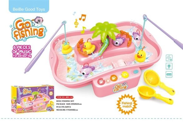 889-144_Light & sound Go Fishing play set(Pink)_聲光釣鴨子套裝(粉紅)