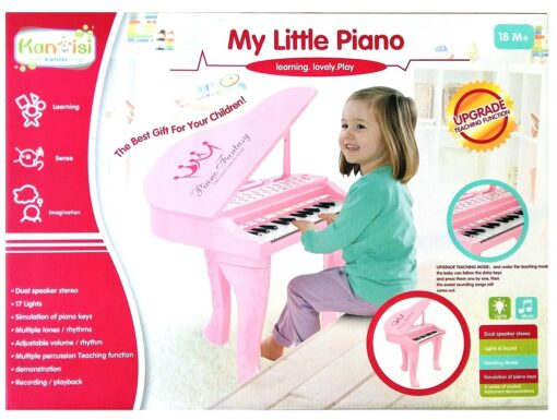 HY671-E(Pink)_Kanisi multifunction electronic music piano(25key)(2 color)_Kanisi 多功能電子音樂鋼琴(25鍵)(2種色)