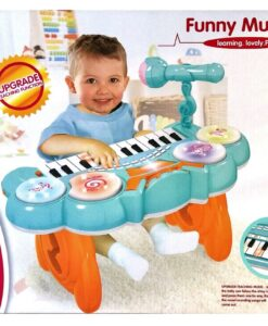 HY679-E (Blue)_Kanisi multifunction electronic music piano with microphone(24key)(2 color)_Kanisi 多功能電子音樂鋼琴配咪(24鍵)(2種色)