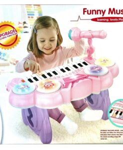 HY679-E (Pink)_Kanisi multifunction electronic music piano with microphone(24key)(2 color)_Kanisi 多功能電子音樂鋼琴配咪(24鍵)(2種色)
