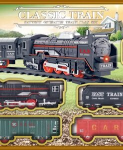 JHX3306_CLASSIC BATTERY OPERATED TRAIN PLAY SET_電動懷舊火車套裝