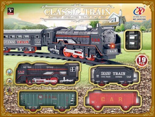 JHX3306_CLASSIC BATTERY OPERATED TRAIN PLAY SET_電動懷舊火車套裝