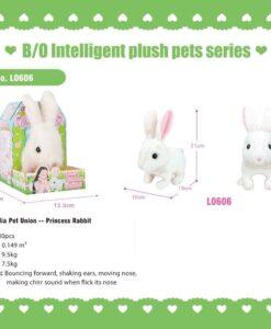L0606_Lelia Pet Union--Light & Sound Princess Rabbit_愛寵聯盟--電動走路發聲公主兔