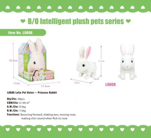 L0606_Lelia Pet Union--Light & Sound Princess Rabbit_愛寵聯盟--電動走路發聲公主兔