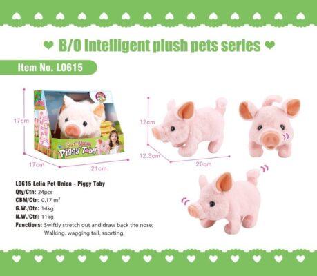 L0615_Lelia Pet Union--Light & Sound Piggy Toby_愛寵聯盟--電動走路發聲小豬嘟比