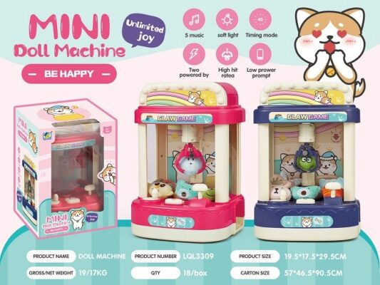 LQL3309_MINI DOLL MACHINE CLAW GAME WITH LIGHT AND SOUND_聲光迷你夾公仔機