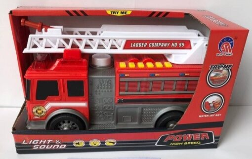 MQ820_FIRE TRUCK (WITH LIGHT & SOUND)_聲光噴水消防車