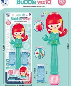 P81028A_電動燈光音樂美人魚泡泡機