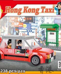 RT03_City_Story_ 小城故事積木_市區的士_Red_Taxi_1