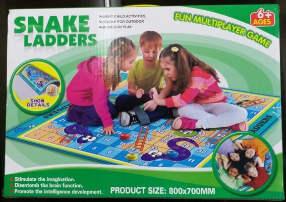 S5502_FUN SNAKE LADDERS GIANT GAME(800 x 700 MM)_趣味蛇梯棋地毯(尺寸 800 x 700 毫米)