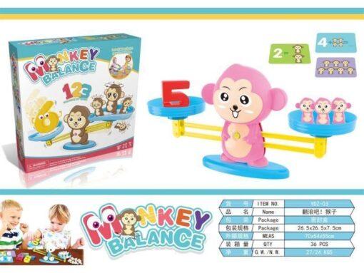 YDZ-03-趣味猴子平衡天秤遊戲_Fun Monkey Balance Game